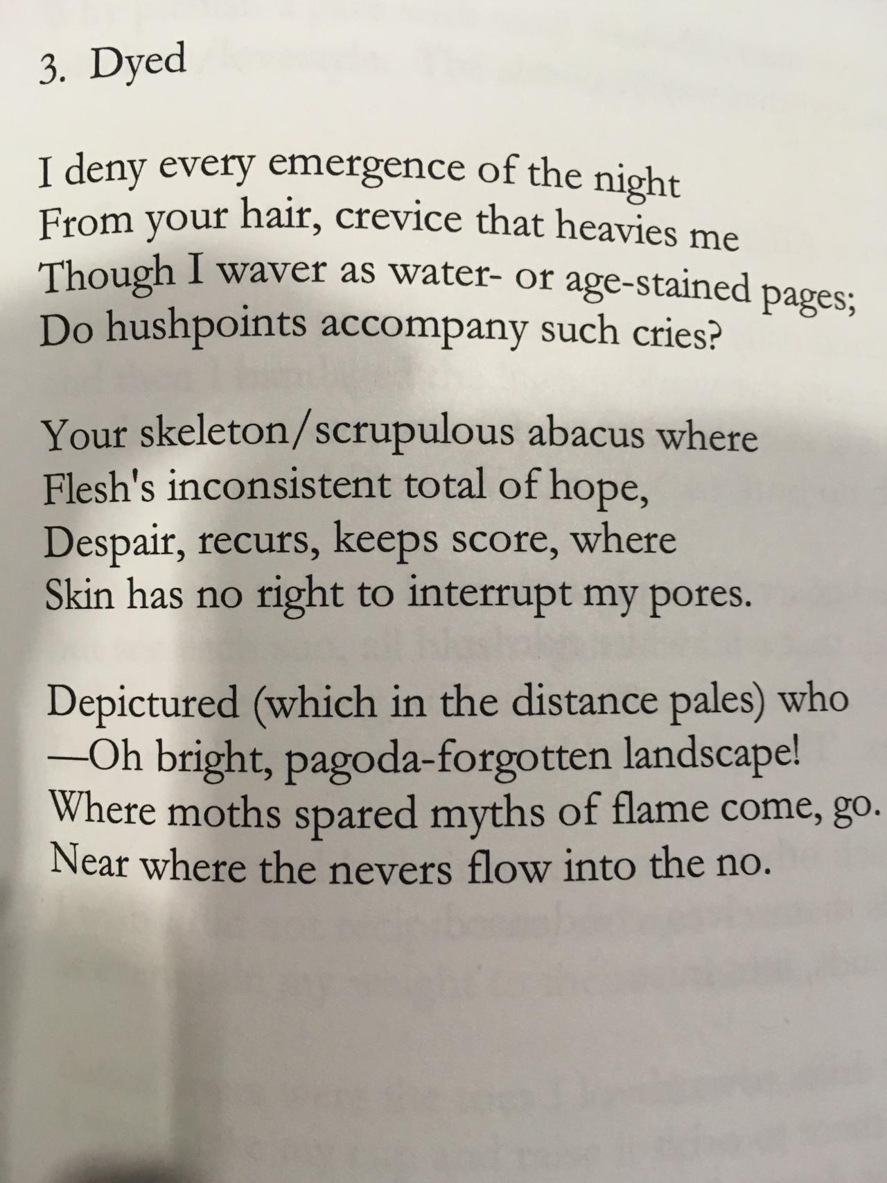 Bill Knott Poems 1